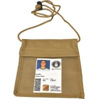 Vertical Neck Military ID Holder, Coyote